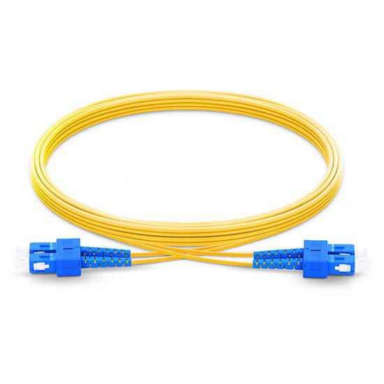 SC UPC to SC UPC Duplex 2.0mm PVC (OFNR) 9/125 Single Mode Fiber Patch Cable