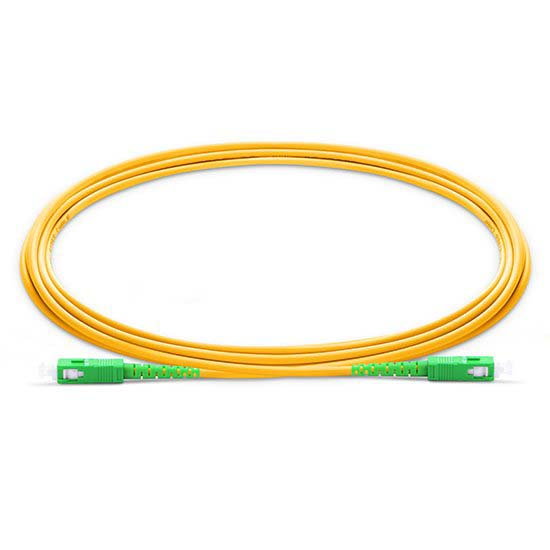 SC APC to SC APC Simplex 2.0mm LSZH 9/125 Single Mode Fiber Patch Cable